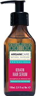 Arganicare Professional Keratin Repairing Hair Serum with Certified Organic Oil of Argan and Keratin for Dry and Damaged Hair, 100ml