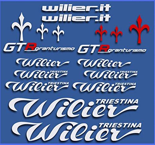 Ecoshirt UQ-HIRM-GGZG Aufkleber Wilier GTR Gran Turismo Dr1111 Stickers Aufkleber Decals Autocollants Adesivi, weiß