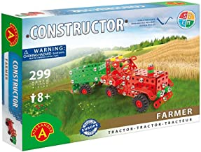 Stemkids Erector Constructor - Farmer Model Building Set, 299 Pieces, for Ages 8+, 100% Compatible with All Major Brands Including Meccano, Educational STEM Learning Sets for Kids