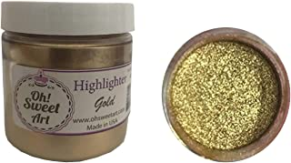 GOLD HIGHLIGHTER DUST, METALLIC, 4 Oz OUNCES By Oh! Sweet Art