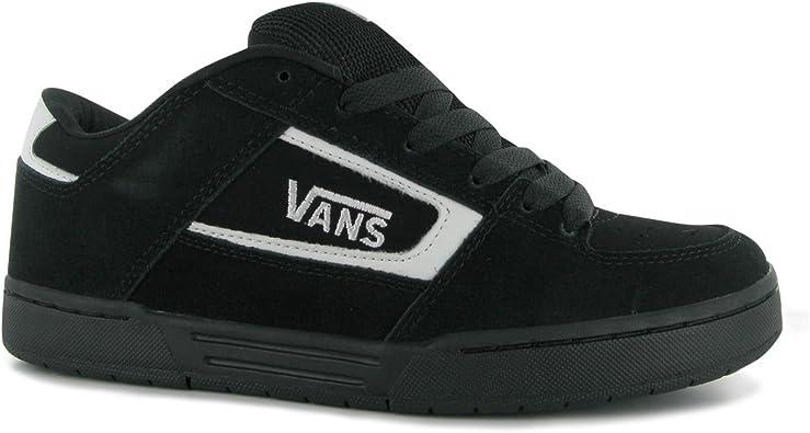 Vans Churchill Skate Shoes Mens Black/White Casual Trainers ...