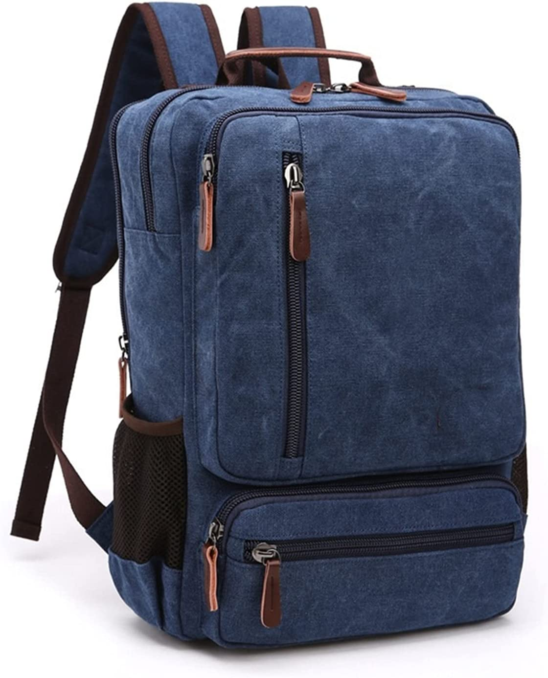 ENHONGDZ Vintage Canvas Backpack Men specialty Inventory cleanup selling sale shop Shoul Large Capacity Travel