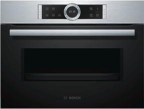 Bosch Serie 8 CFA634GS1 Integrado 36L 900W Negro, Acero inoxidable - Microondas (Integrado, 36 L, 900 W, Tocar, Negro, Acero inoxidable, Abajo)