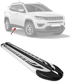 OMAC Acessórios exteriores de automóveis trilho de degrau | pranchas de corrida prateadas de alumínio 2 peças | barras Ner...