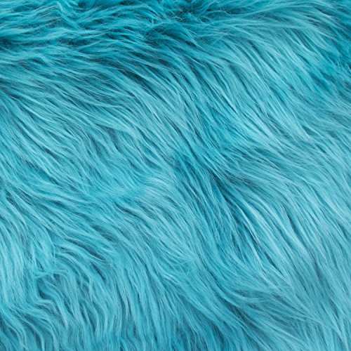 Luxury Shag 60 Inch Fabric by The Yard (F.E. (Turquoise)