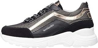 Nero Giardini A931202F Sneakers Teens Fille en Cuir, Cuir Velours Et Toile