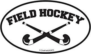 ChalkTalkSPORTS Field Hockey Car Magnet | Crossed Sticks
