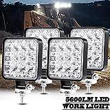 KEING 4 Pcs LED Work Light - 3.35 Inch 48W 5600LM Flood LED Light Bar for Tractor Offroad 4WD Jeep Truck ATV UTV SUV Boat Driving Lamp Daytime Running Light