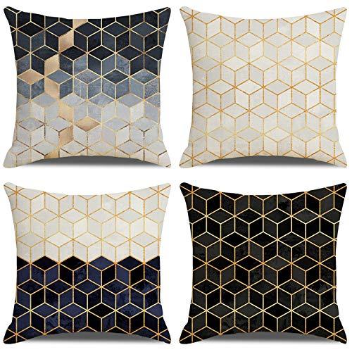 LAXEUYO Cuscini Divano Geometria Moderna Copricuscini Cotone Biancheria cuscino per divano 45 x 45 cm