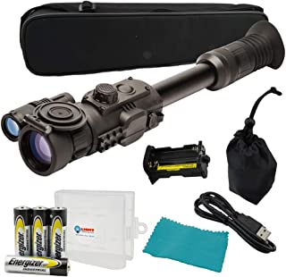 Sightmark Photon RT Digital Night Vision Riflescope, SM18015, Black Bundle with 4 AA Batteries and a Lightjunction Battery Case
