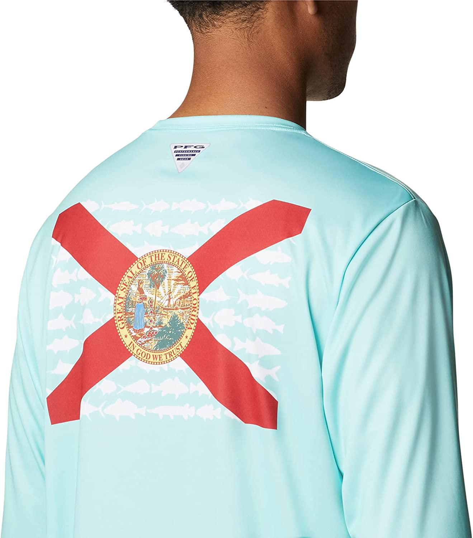 Columbia Men's Terminal Tackle PFG Fish Flag Long Sleeve