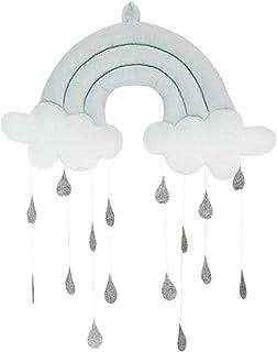 Mobile de plafond à suspendre, jouet mignon en tissu, accessoire de décoration pour berceau de bébé, nuage, gouttes de plu...