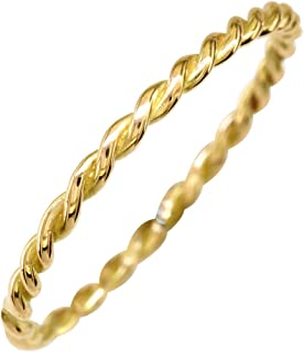 Thin Rope Ring in 14K Yellow Gold
