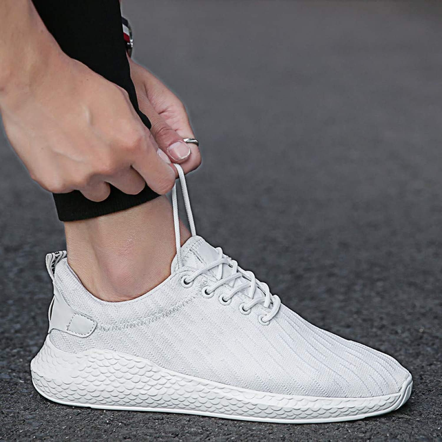 WDDGPZYDX Men shoes soft casual shoes Fashion male Comfortable sneakers Breathable summer shoes pour The Footwear