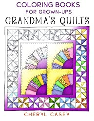 grandmas quilts coloring for grownups