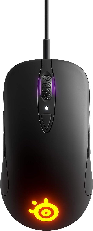 SteelSeries Sensei Ten - Gaming Mouse - 18, 000 CPI Truemove Pro Optical Sensor - Ambidextrous Design - 8 Programmable Buttons - RGB Lighting