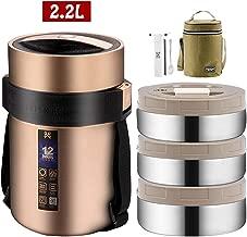 RXQEE Termo para S/ólido y L/íquido,Tarro De Comida De Acero Inoxidable,Frasco T/érmico Comida,Aislado Al Vac/ío Frasco,Sin BPA,Gray/_2.3L