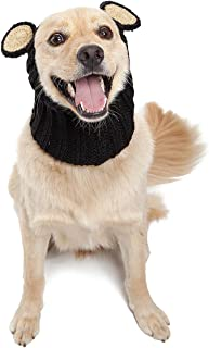 Zoo Snoods Black Bear Dog Costume - Neck and Ear Warmer Snood for Pets