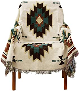 Pattern Blankets,Knitted Ethnic Style Sofa Cover,Sugar Jacquard Tapestry,FURNITURE PROTECTOR A 180x300cm(71x118inch)