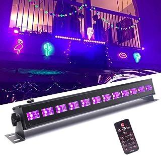 ブラックライト led 12x3W uv ライト 36w ブラック 雰囲気上がる 紫外線ライト 高輝度 KTV ・パーティー ・ミラーボール ・ ディスコライト ・ スポットライト ・ ステージライト 舞台照明用