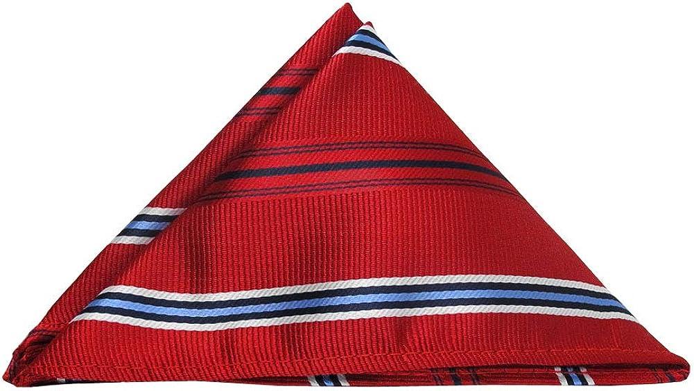 Jacob Alexander Executive Stripe Pocket Square Handkerchief - Red