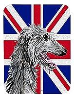 Caroline's Treasures Scottish Deerhound with English Union Jack British Flag Mouse Pad/Trivet (SC9871MP) [並行輸入品]