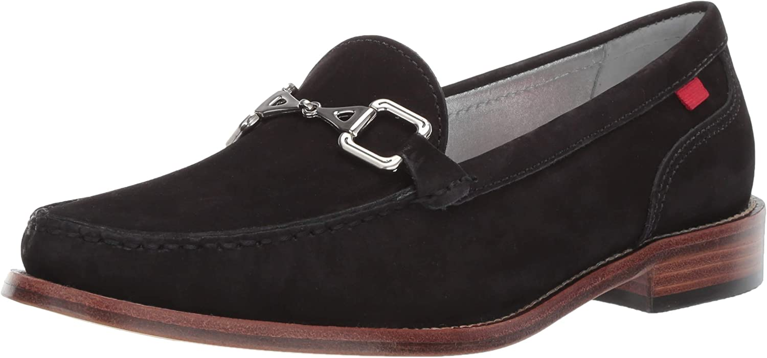 MARC JOSEPH NEW YORK Womens Womens Genuine Leather Park Ave Buckle Loafer Loafer
