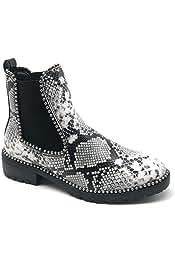 Amazon.es: Piel de serpiente - Botas / Zapatos para mujer: Zapatos y complementos