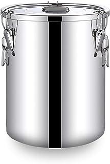 WKDZ 304 Bidon de Lait d'acier Inoxydable, Bidon de Cruche d'emballage de Seau D'huile de Seau de vin avec Le Couvercle Sc...