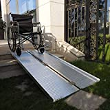 Olymstore 6 ft Portable Aluminum Folding Ramp for Wheelchair Scooters Emergency Hospital -Briefcase Mobility,Non Slip,Home Utility Threshold Steps Ramps