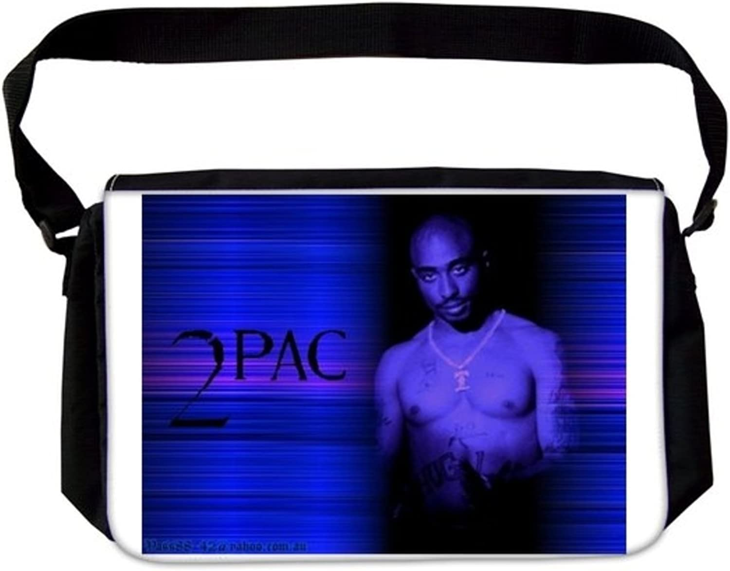 Stunning 2Pac Tupac Shakur Topless Thug Life Digital Stripped bluee Background Hip Hop Rap Laptop School Bag Business Bag Casual Daypack Multiple Pockets Unisex for Men & Women