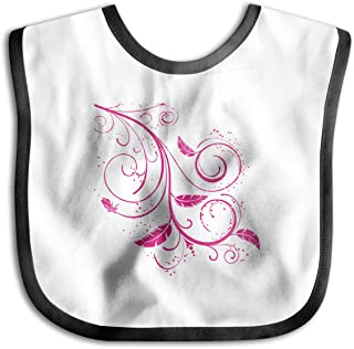YLMG Flower Girl Ink Png Imitation Silicone Bib Easily Wipes Clean Comfortable Soft Baby Bibs Keep Stains Off