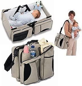 NanNanio Durable Portable Folding Handheld Travel Bassinet Crib Nursery Bed Cots