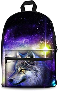 ASdf 3D Vivid Image Backpack Student Bag Anime Cartoon Outdoor Travel Men and Women Backpack (Color : D)
