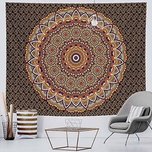 KHKJ Mandala Fondo de Moda Tapiz de Tela brujería Tapiz de Pared Mandala Colgante de Pared Arte Tapiz Decorativo A4 200x180cm