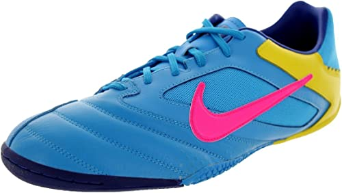 Nike Chaussures de Foot en Salle 5 Elastico Pro Bleu Rose Vif Jaune