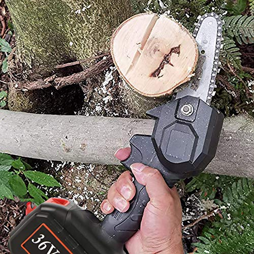 Gigilli 36VF Mini Chainsaw, 4000 mAh, 4-Inch Cordless Electric Portable Chain Saw with Copper Motor, One-Hand 1.5lb Lightweight, Pruning Shears Chainsaw for Wood Cutting, Tree Pruning and Gardening