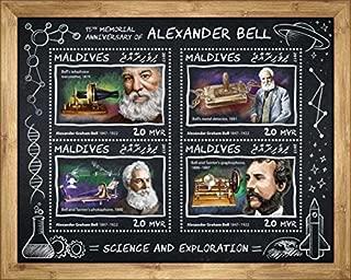 Maldives - 2017 Alexander Graham Bell - 4 Stamp Sheet - MLD17709a