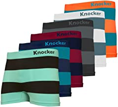 Knocker Nylon Stretchable Compression Boxer Brief 6-pcs Set, Assorted Colors