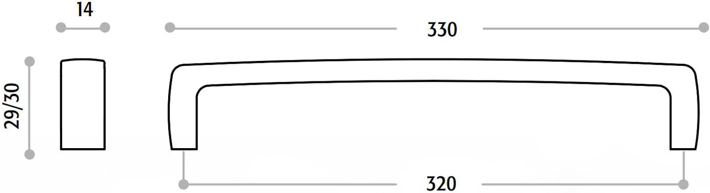 M/öbelgriff MUREL BA 160 mm Chrom poliert K/üchengriff B/ügelgriff Schrankgriff von SCH/ÜCO ALU COMPETENCE