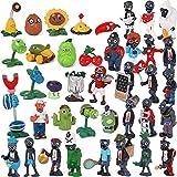 agzhu 40 Unids / Set Plants Vs Zombies PVZ Figura Juguetes PVC Figuras de Acción Colección Modelo de Juguete para Niños Regalos para Niños Decoraciones para Pasteles