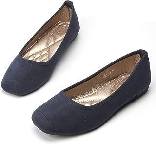 DRV5G7F Women Single Shoes Leather Office Work Shoes Female Spring Flat Nurse Shoes Ballet Flats Woman Moccasins