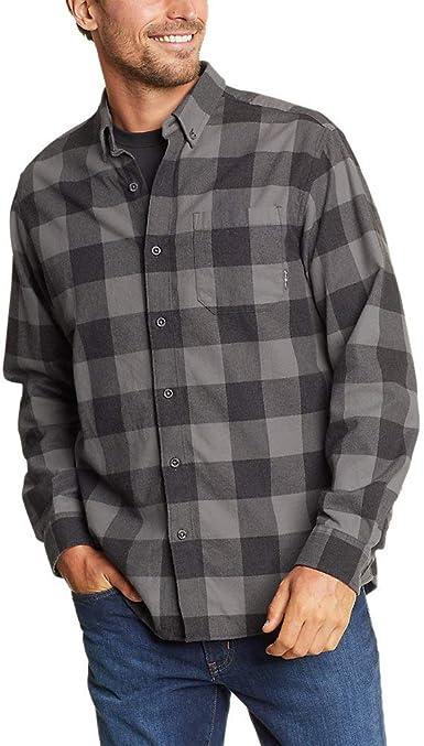 Eddie Bauer Hombres de Eddie favoritos de franela Ajuste Relajado Camisa – diseño de cuadros