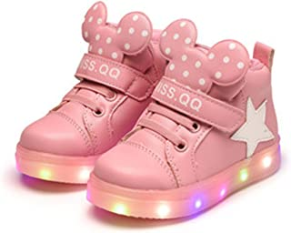 Cute Baby Kid Sneaker Led Lighted Shoes Dot Flash Shoes 1-12Yrs Children Boys Girls