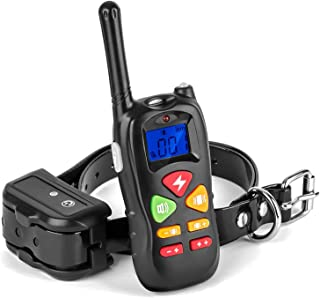 Allness Group Dog Training Collar Rechargeable and Rainproof 2000ft Range Electronic Remote Dog Shock Collar with Beep Vibration Electric Shock Collar for Small Medium Large Dogs