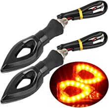 Intermitente moto Fume (1par) LED Triángulo naranja 12V Scooter ESS Tech® Hornet GSXR RSV R1R6ZX ER6N Tuning Flashing Lámpara de Señalización Quad Raptor