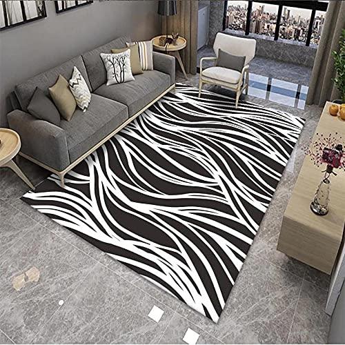 Alfombra de área para dormitorio, 120 x 160 cm, antideslizante, cómoda alfombra para niños, bebé, sala de estar, dormitorio, alfombra para interior, alfombra de jardín (arte abstracto)