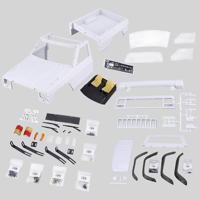 Comomingo AX-313B 313mm Pickup Car Body Shell Bausatz für Axial SCX10 RC4WD RC Crawler (Wei)