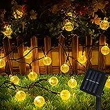 Guirnalda Luces Exterior Solar 60 LED 8M Cadena Solar de Luces -IP65 Impermeable 8 Modos, Guirnaldas Luces Solar LED Bola de Cristal Luces para Exterior, Interior, Jardines, Boda, Fiesta, Casas