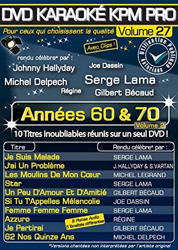 DVD Karaoké KPM Pro - Vol. 27 : Annéees 60 & 70 volume 2 [Francia]